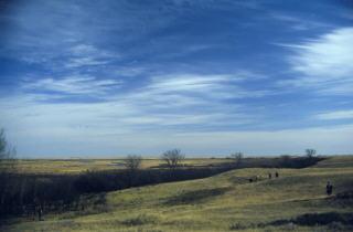 Das flache Land in Minnesota